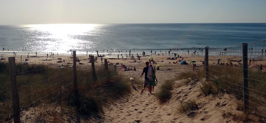 L'accès à la plage près du camping de l'île d'Oléron
