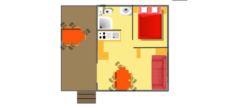 Plan de votre chalet sur Oléron
