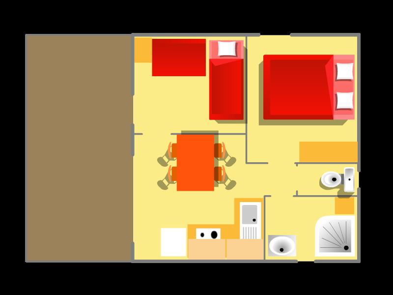 Plan de votre location de chalet sur l'île d'Oléron