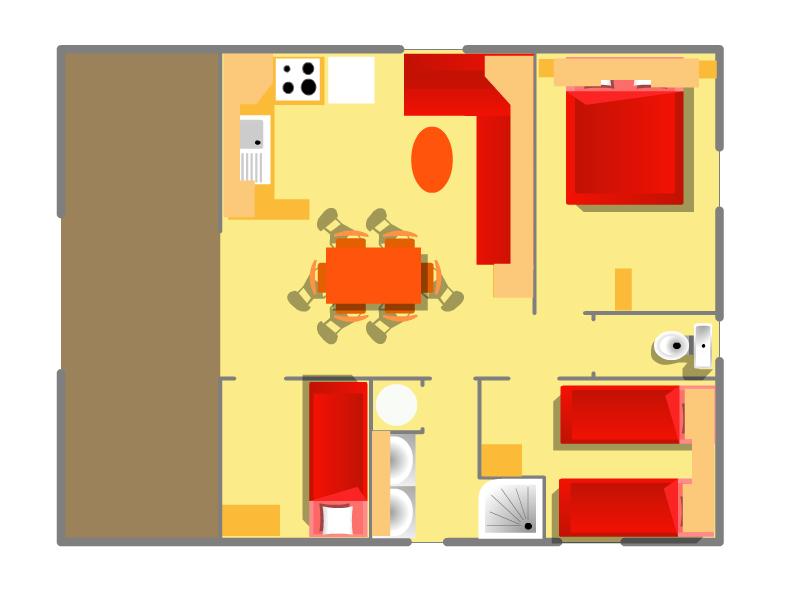 Plan de votre chalet à Oléron