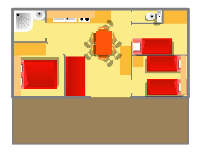 Plan de votre location de chalet à Oléron