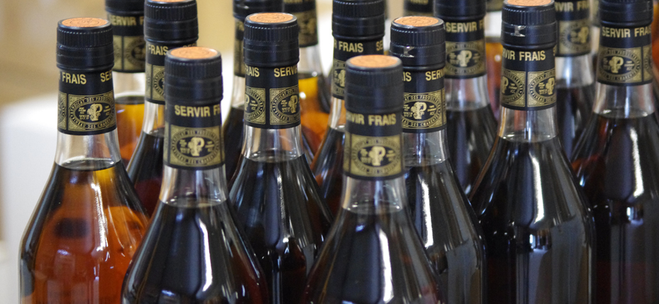 Les bouteilles de pineau de Charente Maritime
