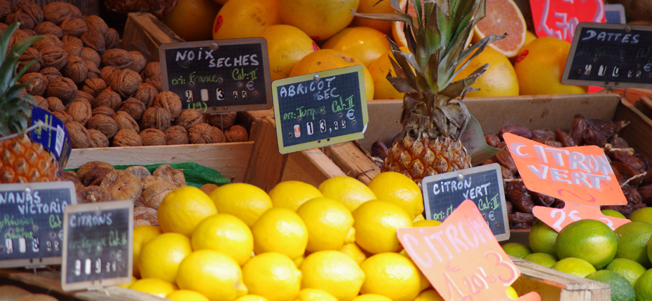 Le marché sur l'île d'Oléron