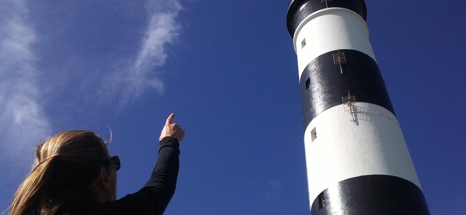 Le phare de Chassiron à la pointe de l'île