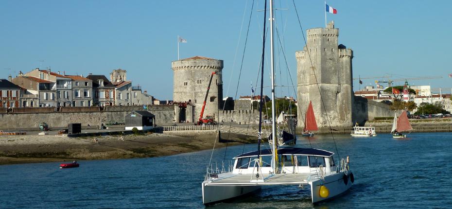 Le vieux port de la Rochelle et ses bateaux