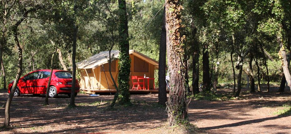Réservez votre emplacement tente lodge 2/4pers au camping Oléron